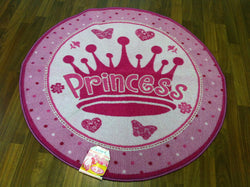 "Heritage Kids Round Princess Accent Rug, 20"" x 20"", Pink"