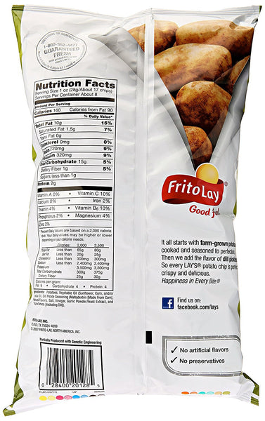 Lay's Dill Pickle Flavored Potato Chips, 7.75 Ounce