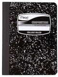 Mead Square Deal Black Marble Composition Book, 100 Sheets, College Rule