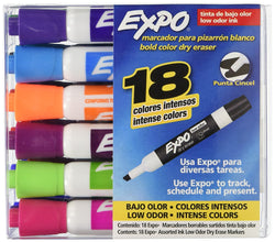 Expo Dry Erase Markers - (1-Pack of 18)