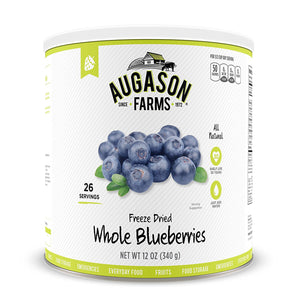Augason Farms Freeze Dried Whole Blueberries #10 Can, 12 oz