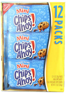 Chips Ahoy! Mini Cookies, 1 Ounce, (Pack of 12)
