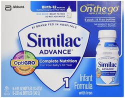 Similac Advance Early Shield Infant Formula with Iron Ready To Feed Bottles, 48 oz