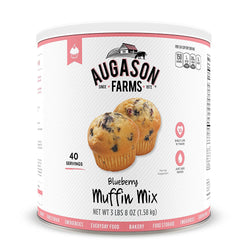 Augason Farms Blueberry Muffin Mix #10 Can, 56 oz