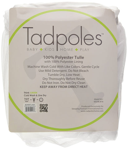 Tadpoles Triple Layer Tulle Crib Skirt in White