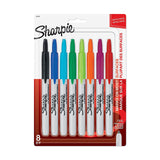 Sharpie Retractable Permanent Markers, Fine Point, Assorted Colors, 8 Count