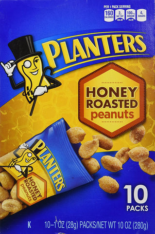 Planters Honey Roasted Peanuts, 10 Ounce