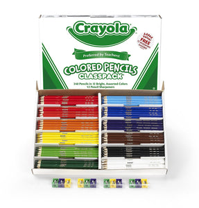 Crayola 240 Ct Colored Pencil Classpack, 12 Assorted Colors (68-8024)