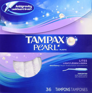 Tampax Pearl Tampons - Light - 36 ct