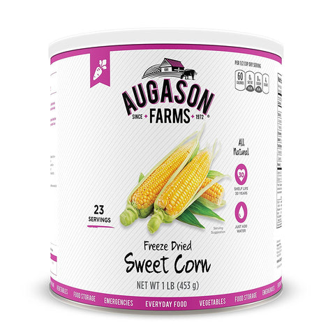 Augason Farms Freeze Dried Sweet Corn #10 Can, 16 oz