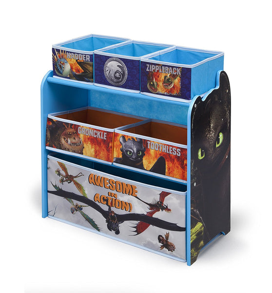 Delta Children Multi-Bin Toy Organizer, DreamWorks How to Train Your Dragon 2