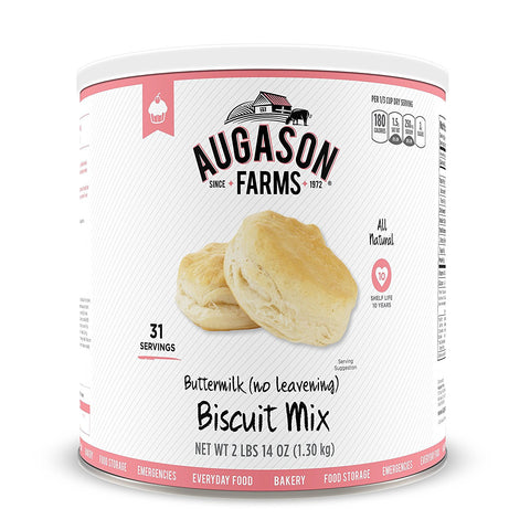 Augason Farms Buttermilk (No Leavening) Biscuit Mix #10 Can, 46 oz