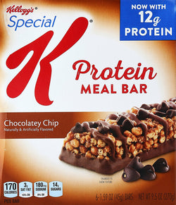 Kellogg's Special K Protein Meal Bars, Chocolatey Chip, 6 ct