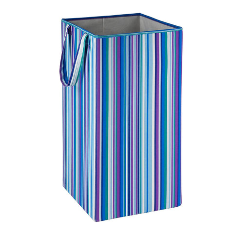 Honey-Can-Do HMP-01134 Foldable Square Hamper, Striped Design