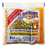 Great Northern Popcorn 1 Case (40) of 8 Ounce Premium Quality Popcorn Portion Packs Kit Cinema Quality