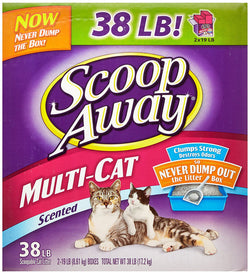 Scoop Away Multi-Cat, Scented Cat Litter, 38 Pound Carton