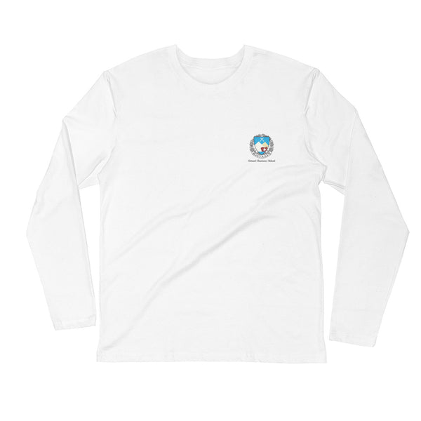 Gstaad Business School x Daffy Chick Long Sleeve T - Sky Blue Logo