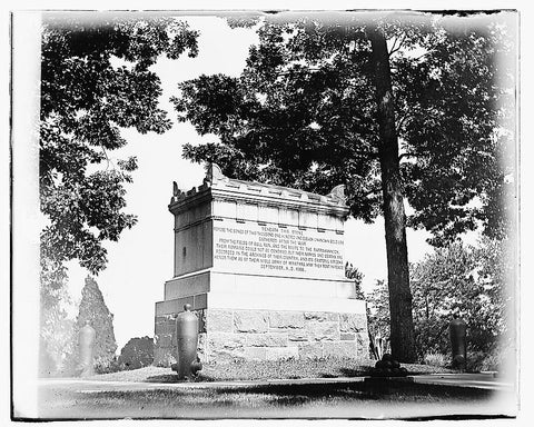 16 x 20 Gallery Wrapped Frame Art Canvas Print of Tomb of the Unknown of Civil War 1919 National Photo Co  03a