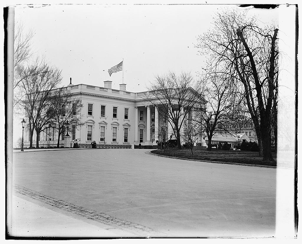 16 x 20 Gallery Wrapped Frame Art Canvas Print of White House, Washington, D.C. 1919 National Photo Co  26a