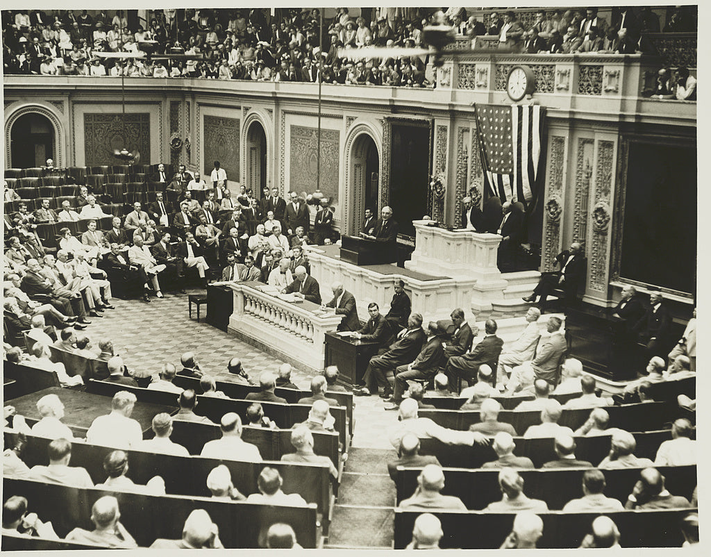 8 x 10 Reprinted Old Photo of [Session of the House of Representatives in the U.S. Capitol] 1925 National Photo Co  39a