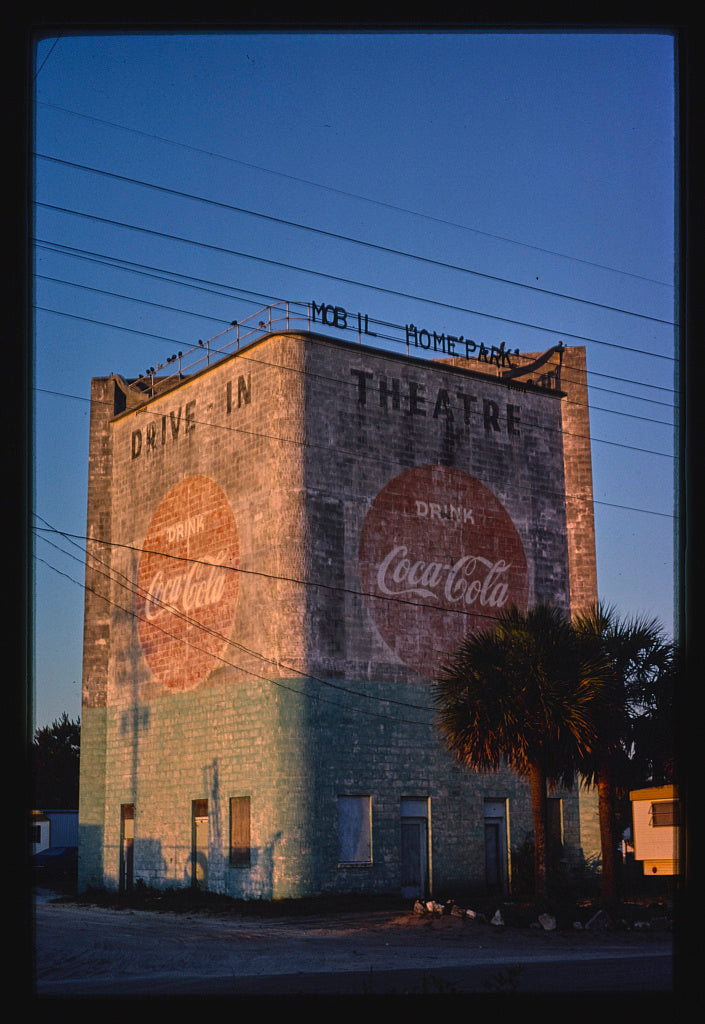 8 x 12 Photo of Drive-in Theater, Jacksonville Beach, Florida DIGITAL FILE FROM ORIGINAL COLOR TRANSPARENCY 1979 Margolies, John 39a