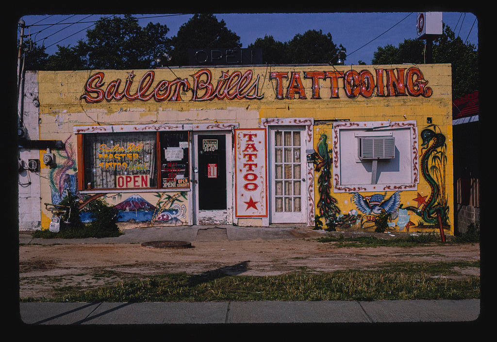 8 x 12 Photo of Sailor Bills Tattooing, Victory Drive, Columbus, Georgia 1982 Margolies, John 69a