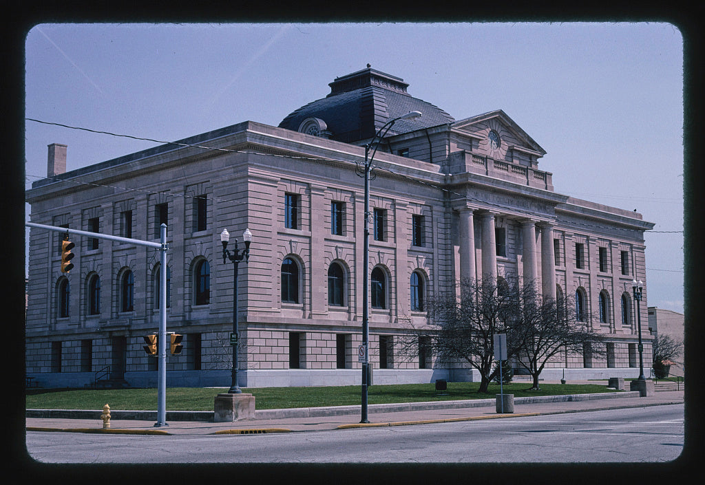 8 x 12 Photo of Miami County Courthouse, vertical detail, Peru, Indiana 2004 Margolies, John 64a