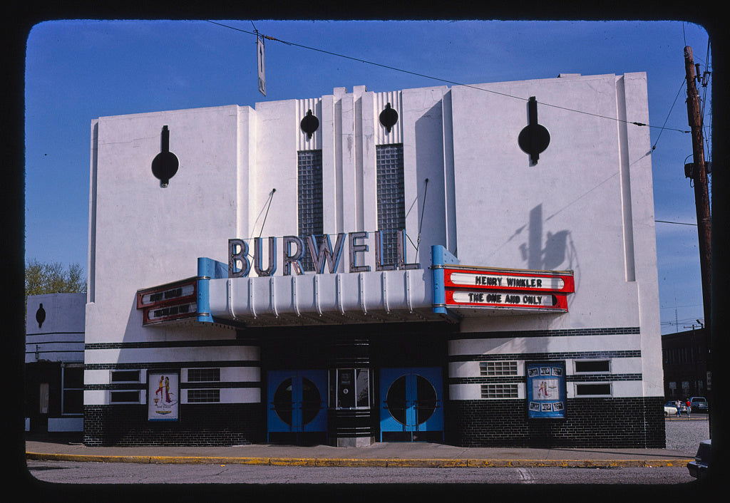8 x 12 Photo of Burwell Theater, Dudley Avenue, Parkersburg, West Virginia 1978 Margolies, John 91a