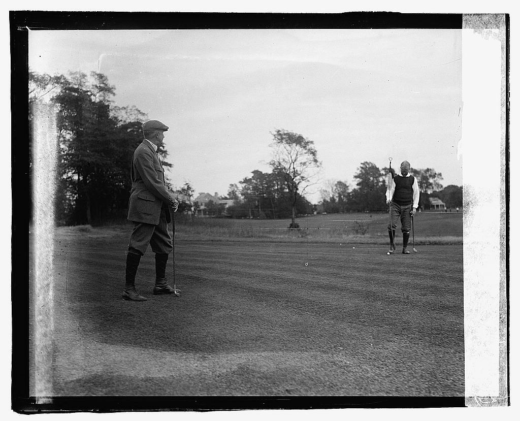 16 x 20 Reprinted Old Photo ofGillette [i.e., Gillett], Golf, Chevy Chase, [Maryland] 1919 National Photo Co  31a
