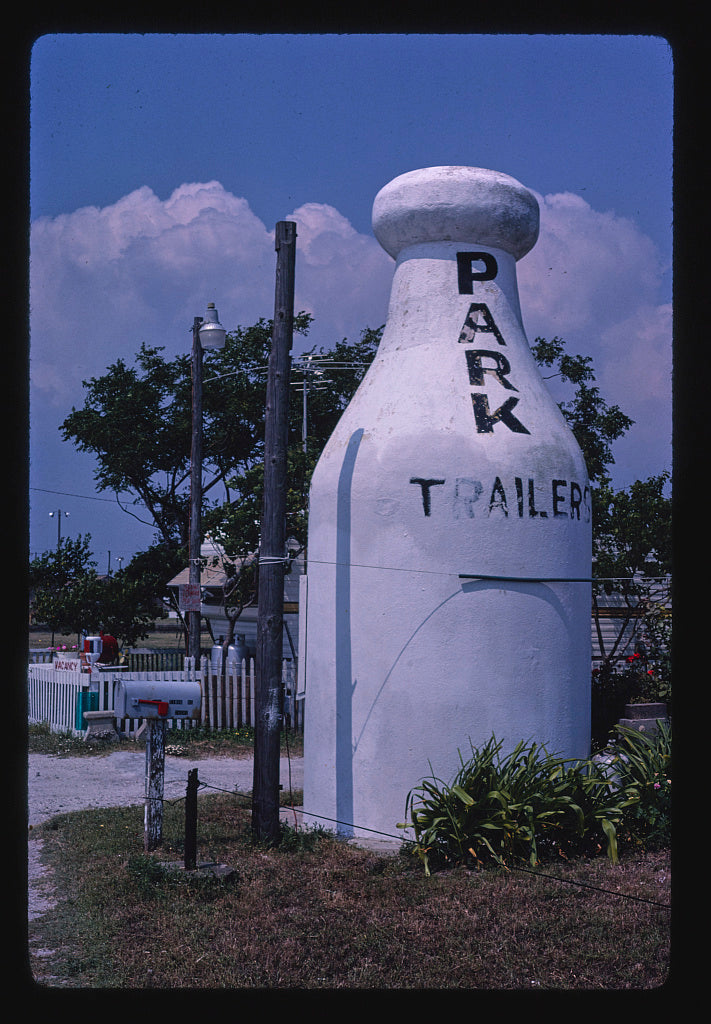 8 x 12 Photo of Grishams's milk bottle, view 1, Timon Boulevard, Corpus Christi, Texas 1988 Margolies, John 24a