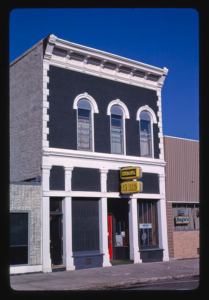 8 x 12 Photo of Mantrap Hair Salon, angle 2, Center Avenue, Le Mars, Iowa 1987 Margolies, John 34a