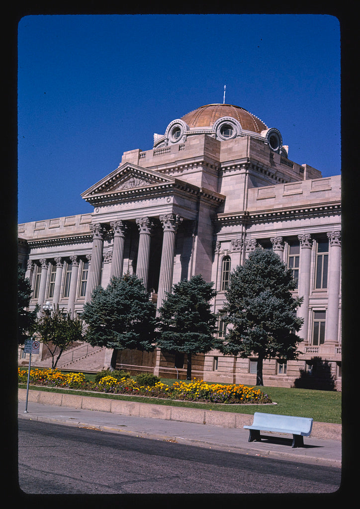 8 x 12 Photo of Pueblo County Courthouse, angle 3, 10th Street, Pueblo, Colorado 1991 Margolies, John 45a