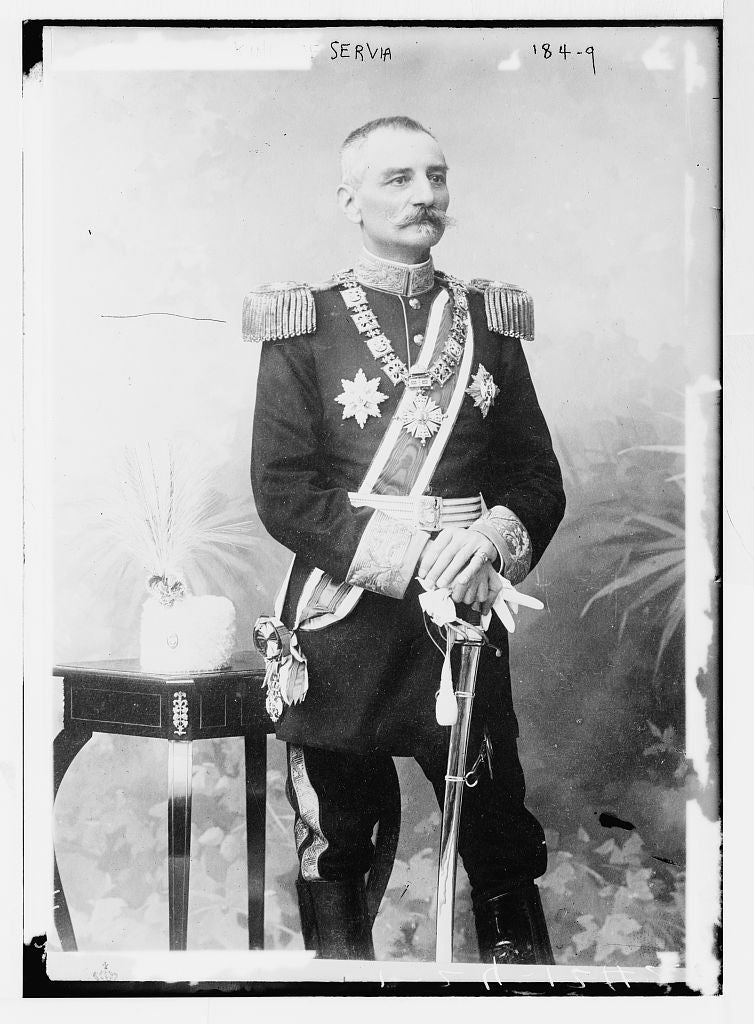 8 x 10 Photo of King of Servia, in uniform 1890-1920 G. Bain Collection 92a
