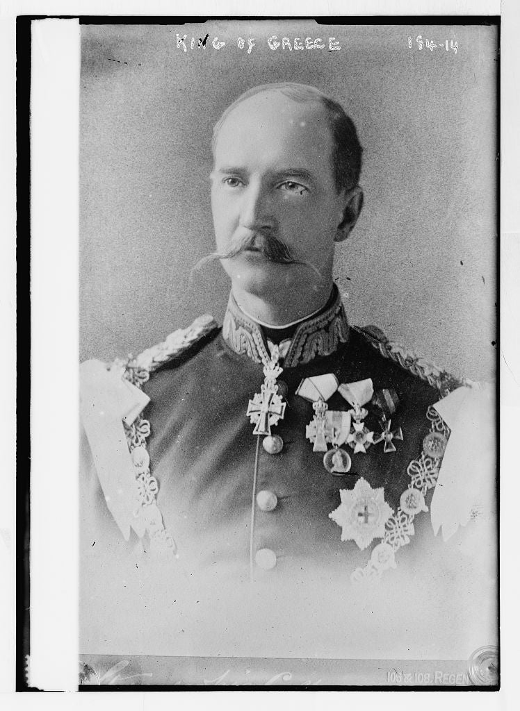 8 x 10 Photo of King of Greece, portrait bust, in uniform 1890-1920 G. Bain Collection 94a