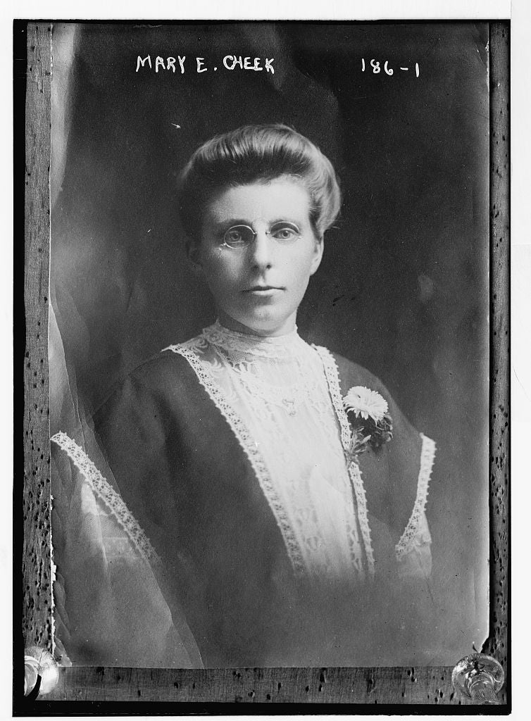 8 x 10 Photo of Mary E. Cheek, portrait bust 1890-1920 G. Bain Collection 05a