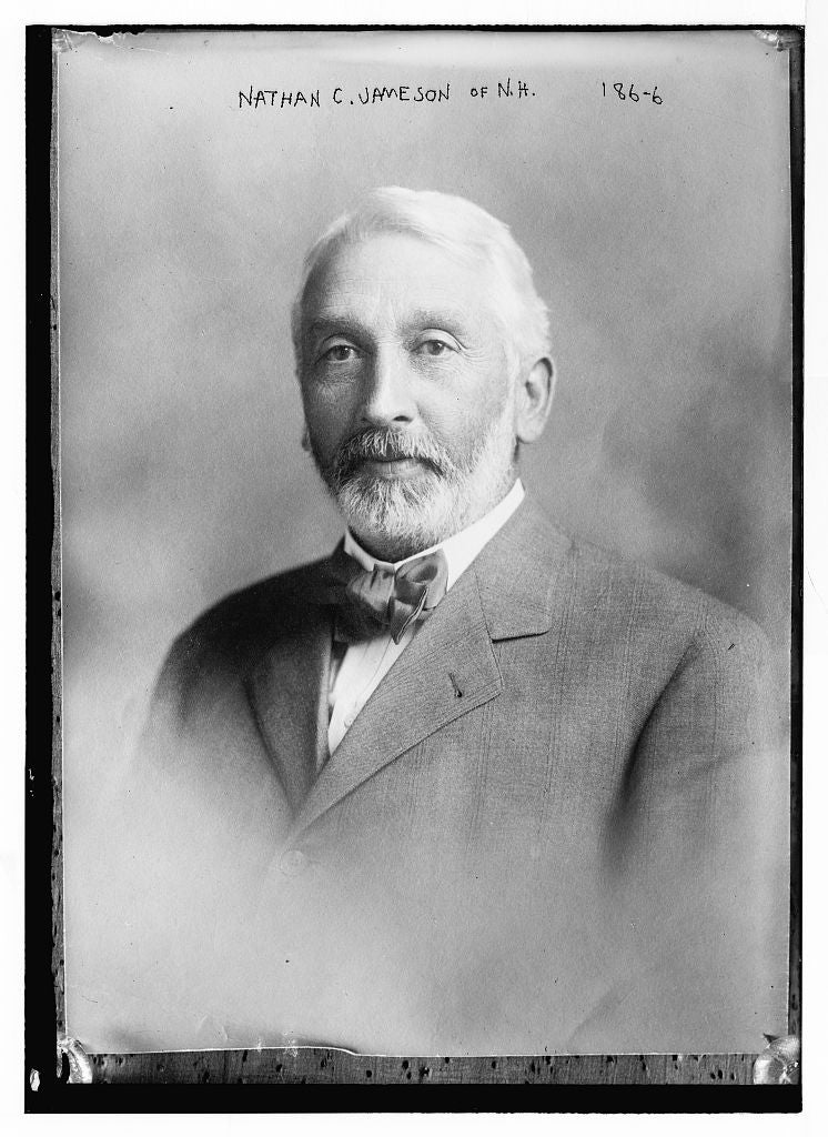 8 x 10 Photo of Nathan C. Jameson, portrait bust 1890-1920 G. Bain Collection 09a