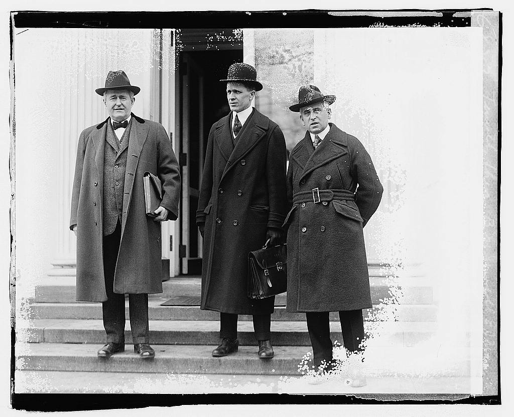 8 x 10 Reprinted Old Photo of Timothy Shea, B.M. Jewell, E.J. Mayon, 2/13/20 1920 National Photo Co  14a