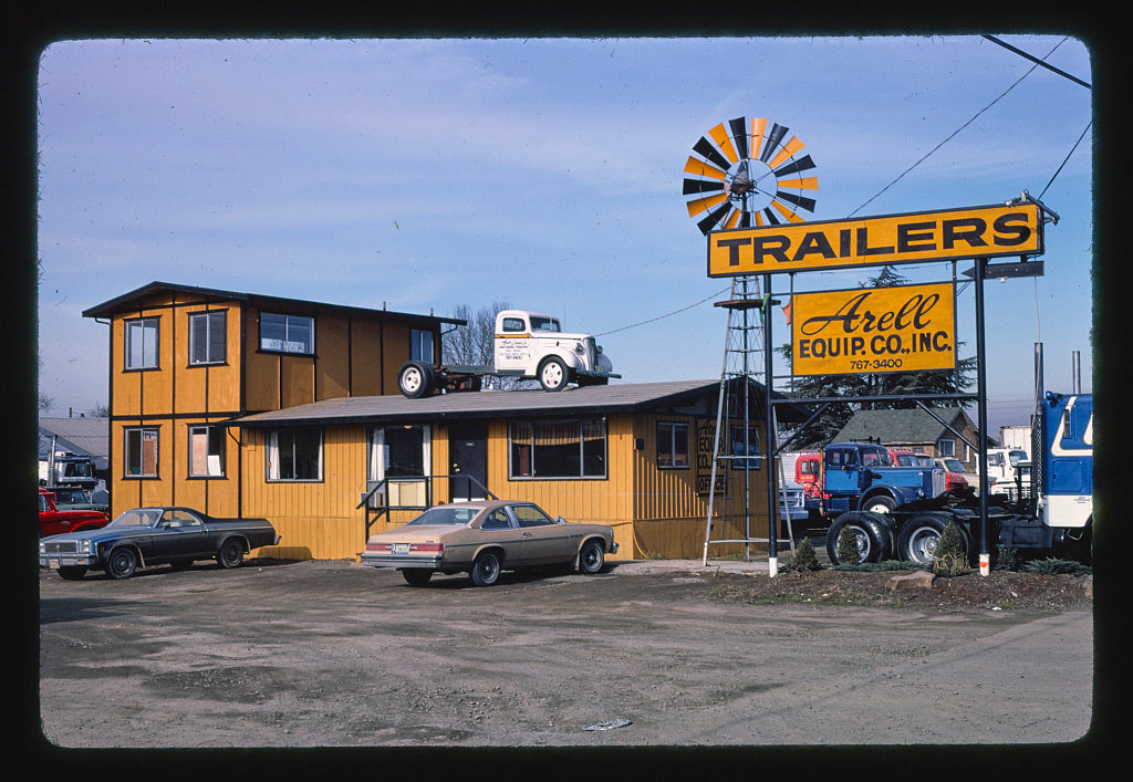 8 x 12 Photo of Arell Equipment Co., Pacific Highway, Seattle, Washington 1977 Margolies, John 27a