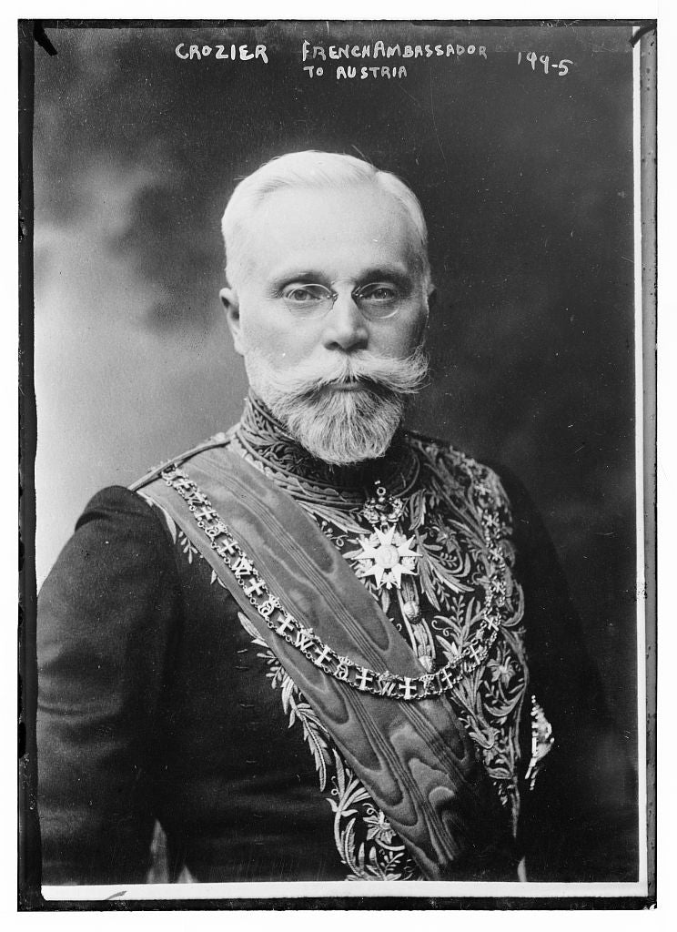8 x 10 Photo of Crozier, French Ambassador to Austria, portrait bust 1890-1920 G. Bain Collection 46a