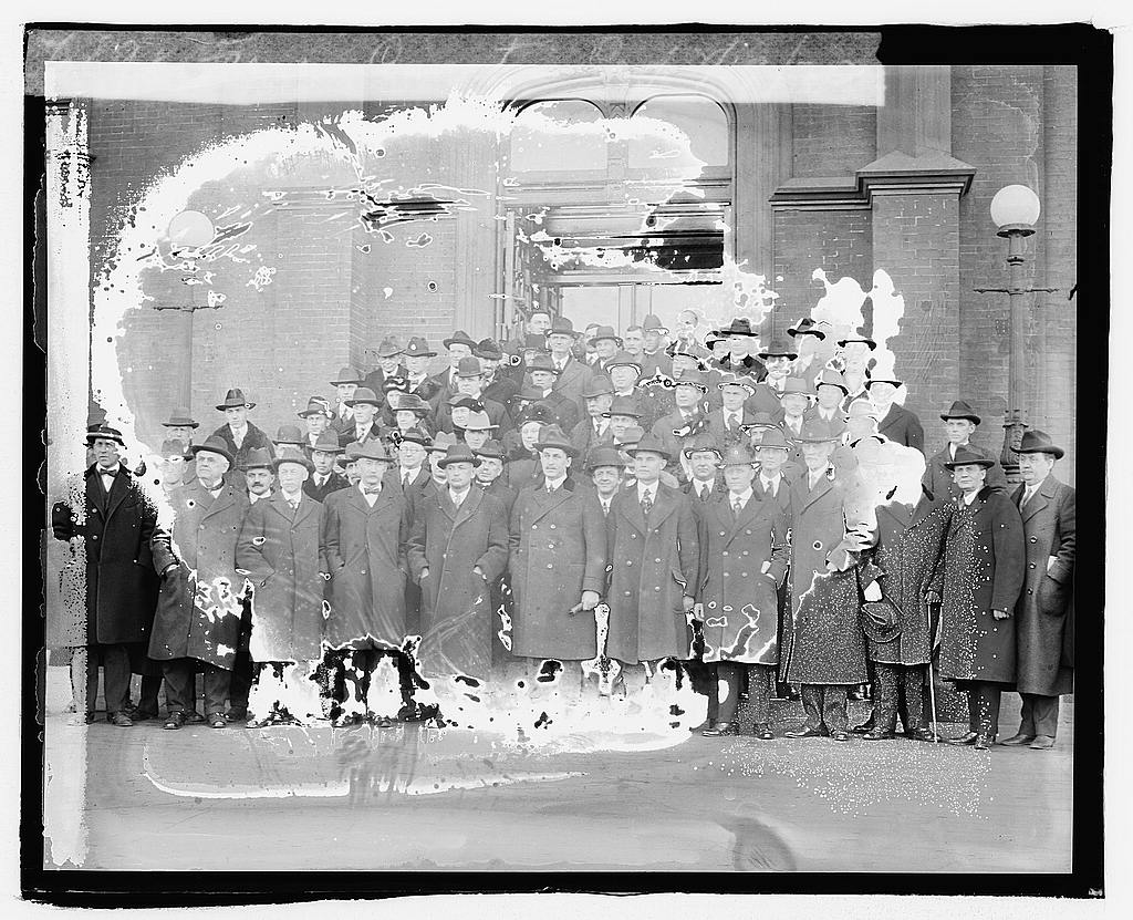 8 x 10 Reprinted Old Photo of Farmer's Convention, 2/19/20 1920 National Photo Co  56a