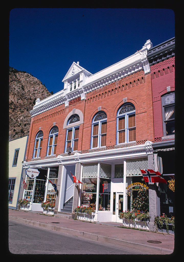 8 x 12 Photo of  Commercial building, angle 1 6th Street, Georgetown, Colorado  1991 Margolies, John 46a