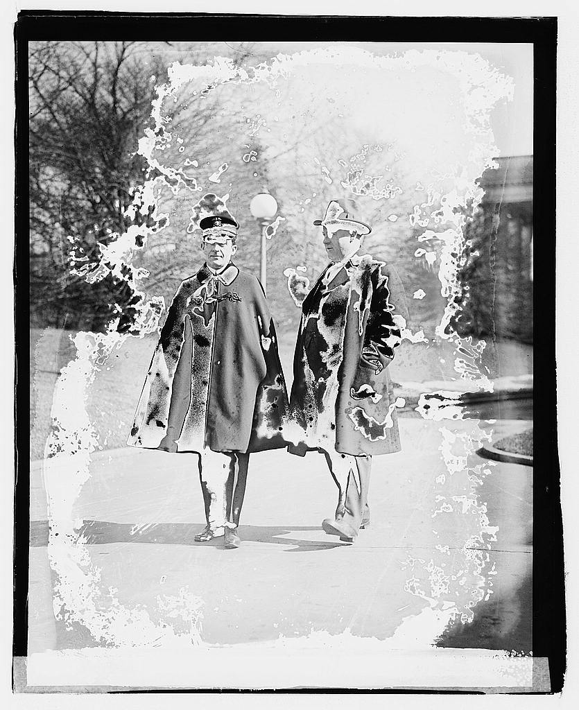 8 x 10 Reprinted Old Photo of Dr. Grayson & Jack Nevin 1920 National Photo Co  69a