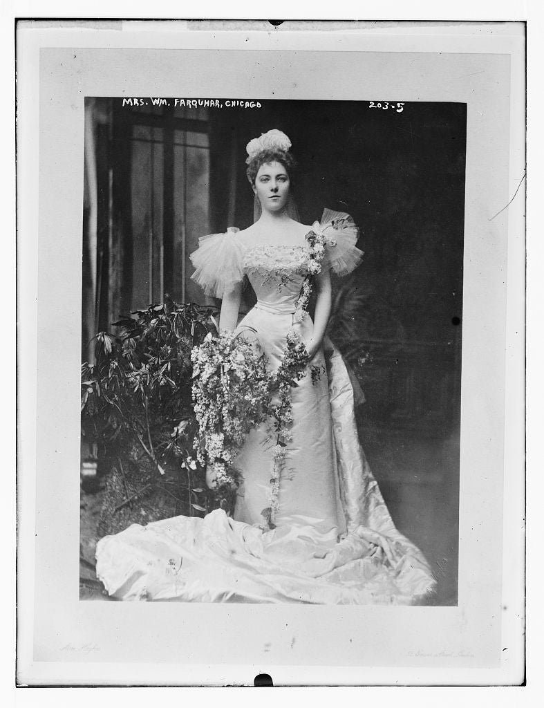 8 x 10 Photo of Mrs. Wm. Farquhar, Chicago 1890-1920 G. Bain Collection 66a