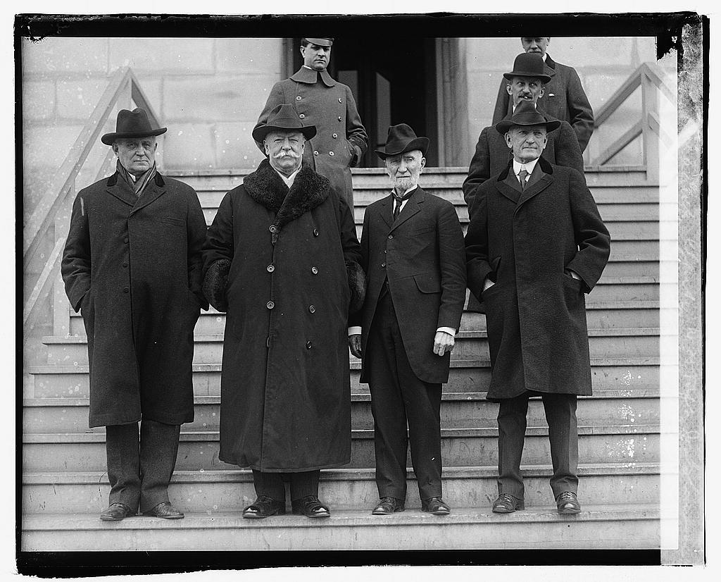 8 x 10 Reprinted Old Photo of Champ Clark, W.H. Taft, Jos. G. Cannon, Ex. Gov. Samuel W. McC 1920 National Photo Co  95a