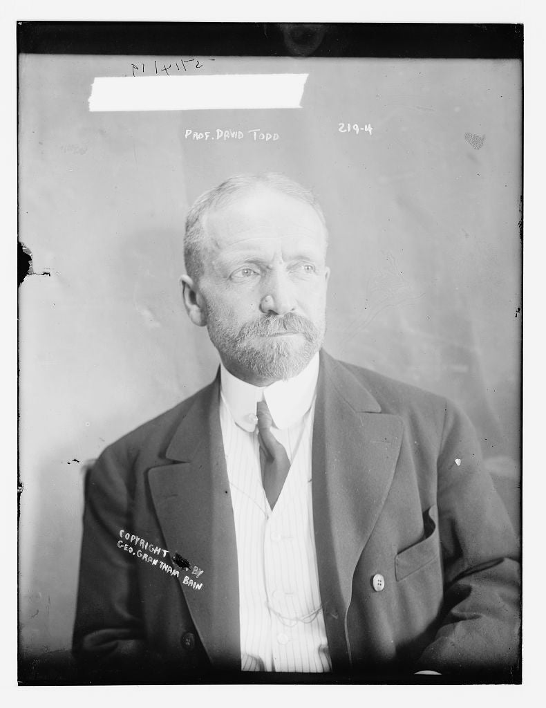 8 x 10 Photo of Prof. David Todd 1890-1920 G. Bain Collection 58a