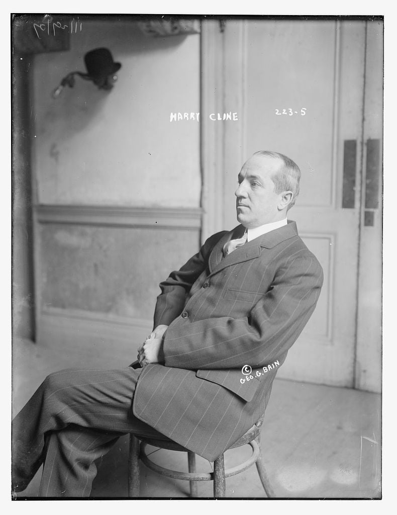 8 x 10 Photo of Harry Cline 1890-1920 G. Bain Collection 97a