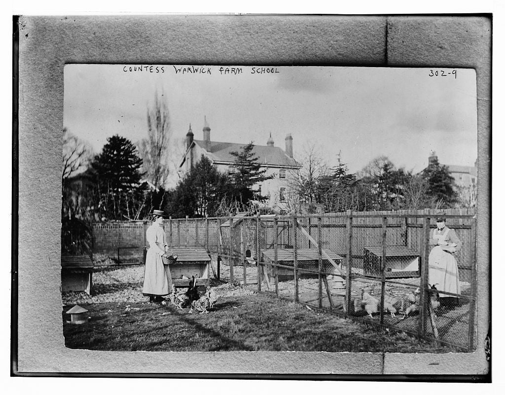 8 x 10 Photo of Countess Warwick, Farm School 1890-1920 G. Bain Collection 38a