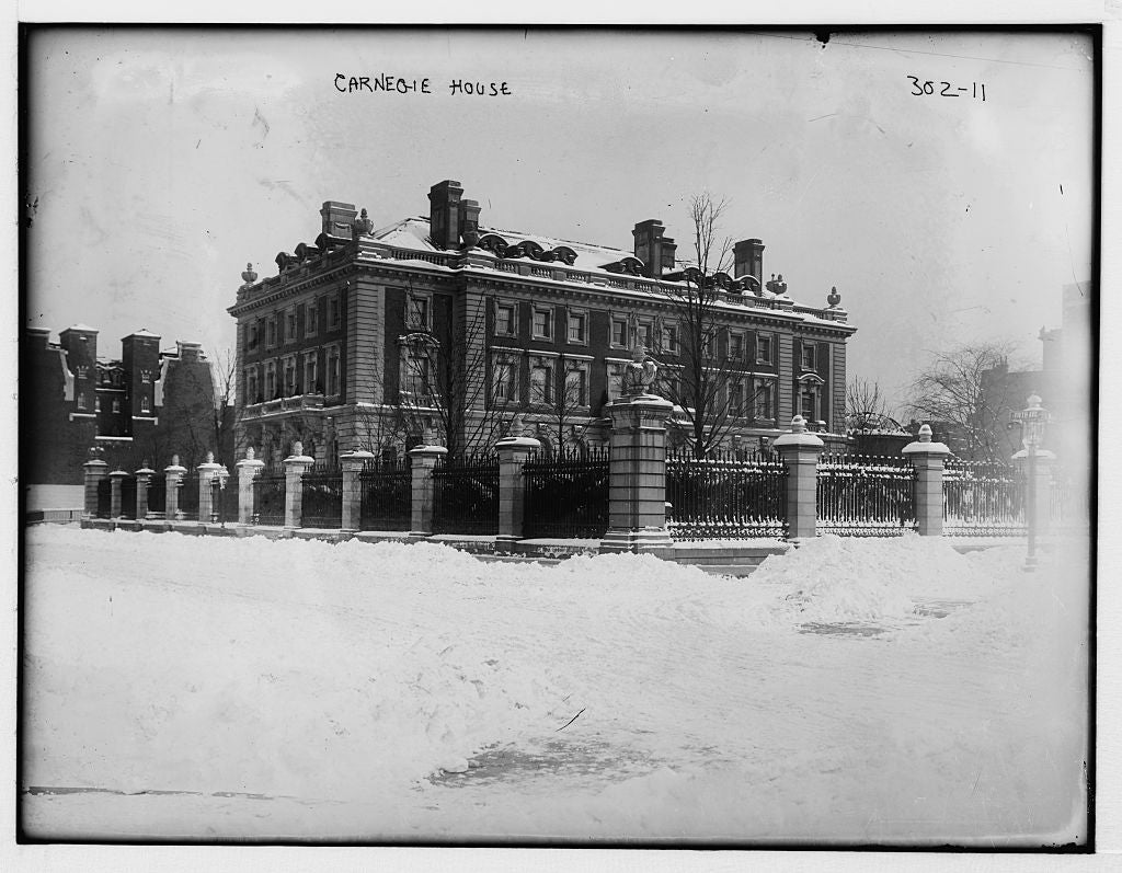 8 x 10 Photo of Carnegie House 1890-1920 G. Bain Collection 41a
