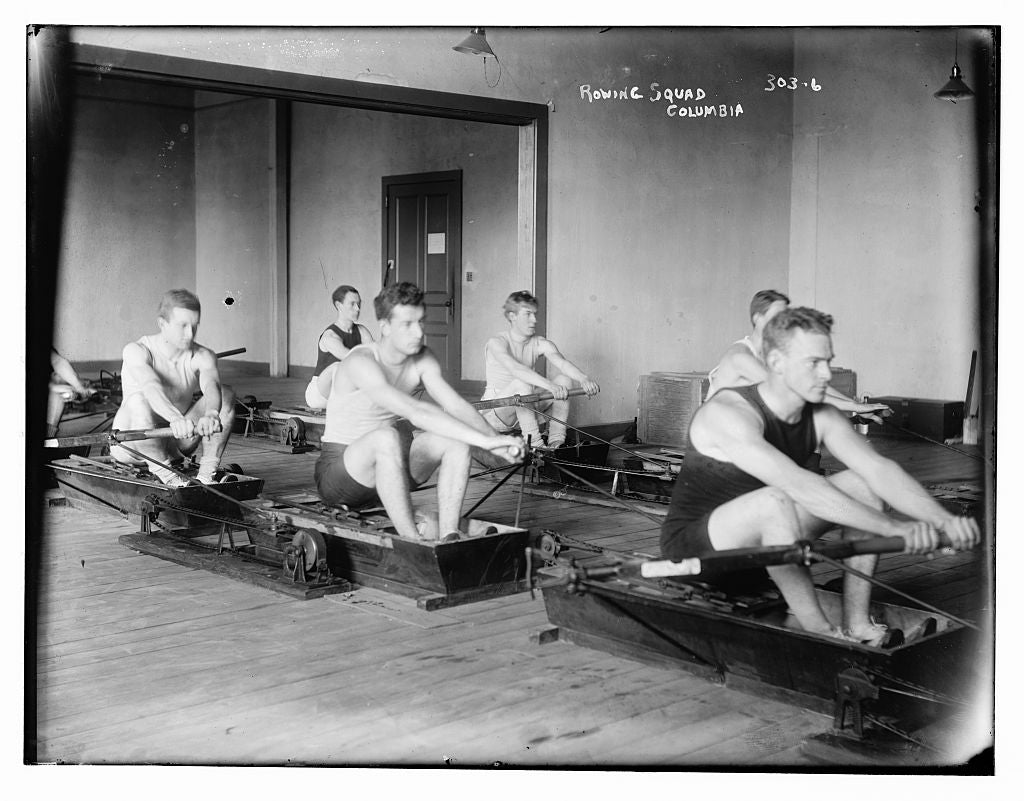 8 x 10 Photo of Rowing Squad, Columbia 1890-1920 G. Bain Collection 44a