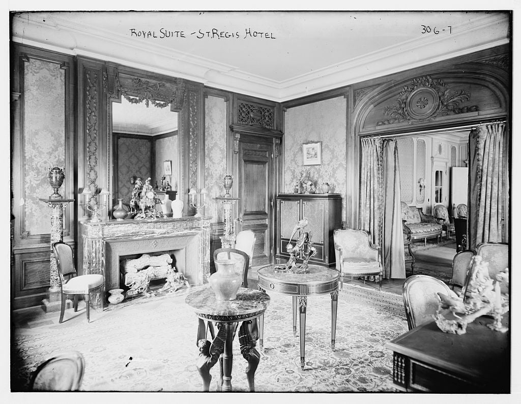 8 x 10 Photo of St. Regis Hotel: Royal Suite 1890-1920 G. Bain Collection 62a